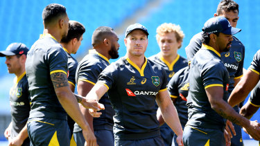 Danger: Stand-in Wallabies captain David Pocock will be a key figure for Australia on Saturday against Argentina.