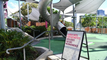 The slight easing of restrictions in Queensland does not extend to playgrounds.