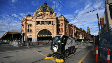 Metro officials say Flinders Street Station has been cleaned more often during the pandemic.