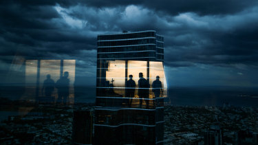 Storm clouds roll over the Eureka Skydeck in Mebourne on Friday.