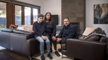 The Keresztesis at their Glen Iris home.