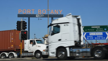 The duplication of the rail line is aimed at reducing the reliance on trucks to transport containers to and from Port Botany.