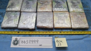 The 552 kilograms of cocaine were concealed in a shipment of banana pulp from Brazil.