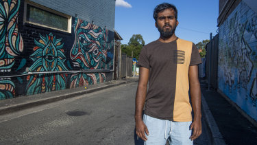 A long way from home: Jeyrasa Jeyarupan, 23, lost three family members in the Sri Lanka bomb blasts.