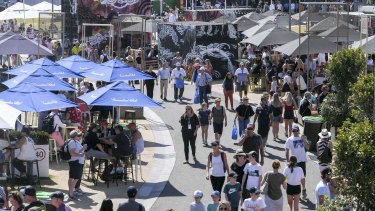 Crowds flocked to Melbourne Park's 'grand slam oval' this year.