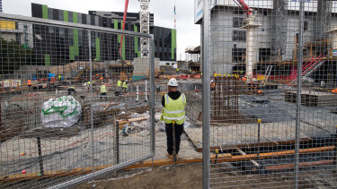 Construction has continued in Melbourne during the coronavirus crisis but the pipeline for future projects has been reduced.