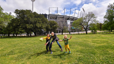 The MCG on the day the grand final is played at the Gabba because of COVID-19 Coronavirus Pandemic.