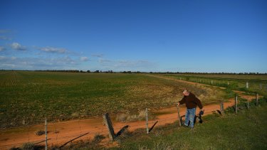 A Moama farmer whose land borders the site of the proposed plant.