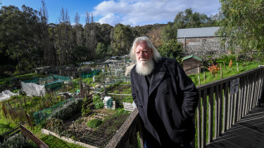 Peter Barber has tended a plot at the gardens for more than three years.