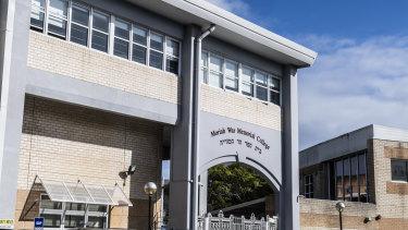 Moriah College in Sydney's east.
