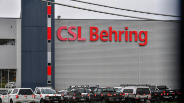 CSL Behring's production facilities in Broadmeadows, Victoria. CSL will be key to onshore manufacturing of COVID-19 vaccines after a heads of agreement was signed with the Australian government.