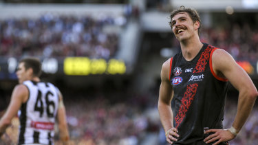 Staying put: Joe Daniher's trade request failed.