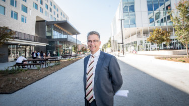 ANU Director of major projects Robert Hitchcock in the new Kambri hub.