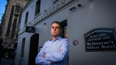Paul Waterson outside the Duke of Wellington hotel.