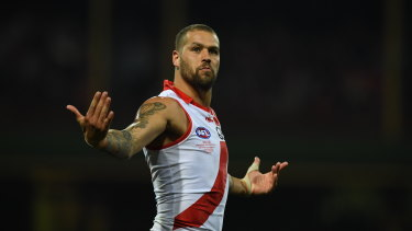 Buddy brilliant: Lance Franklin is the glamour forward of the decade