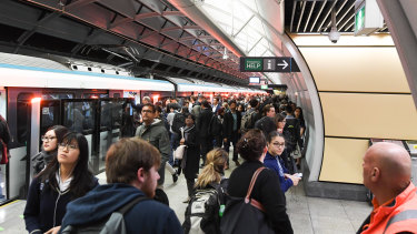 The metro train line averaged more than 72,000 passengers a day during the working week.
