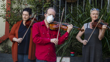 Members of the Opera Australia orchestra were stood down without pay in March.