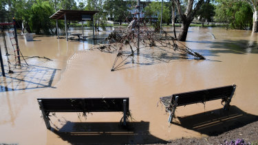 Dalby residents begin the clean up after the weekend flooding.