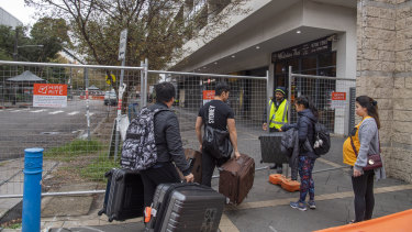 The residents had to arrange temporary accommodation after they were told to leave their homes on Friday night.