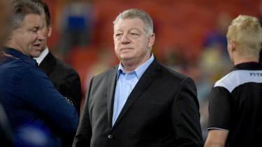 In demand? Phil Gould was spotted with Dino Mezzatesta at the Star, where the Sharks chairman is a casino executive.