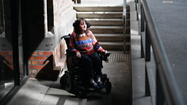 Stacey Christie says it is incredibly frustrating when stairs mean she can't access a building.