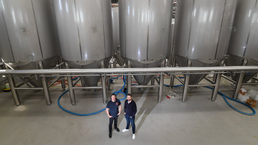 Paul Bowker and Andrew Scrimgeour are two of the founders of Brick Lane Brewing