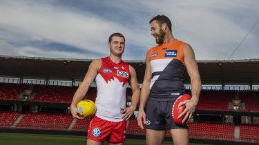 Bunyip boys Tom Papley and Shane Mumford will resume their rivalry in Saturday's Sydney AFL derby.