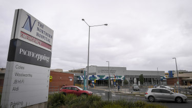 Police and security guards were injured during a brawl outside the Northern Hospital in Epping.