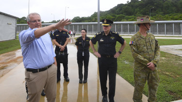 Prime Minister Scott Morrison travelled to Christmas Island to confirm the detention centre there was reopening.