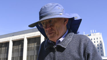David Eastman outside the ACT Supreme Court in Canberra during his compensation ruling this month.