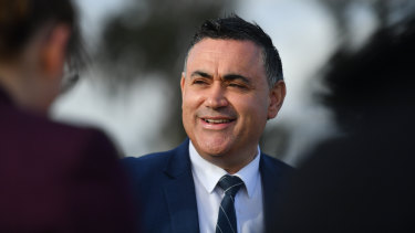 """NSW Deputy Premier John Barilaro said """"the last thing our primary producers need is a bunch of academics telling people how to live their lives and hurting our already struggling farmers in the process""""."""