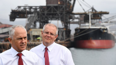 Prime Minister Malcolm Turnbull (left) and Treasurer Scott Morrison
