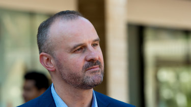 Chief Minister and Treasurer Andrew Barr. The ACT government has promised to fix any unintended consequences of the vacancy tax extension.