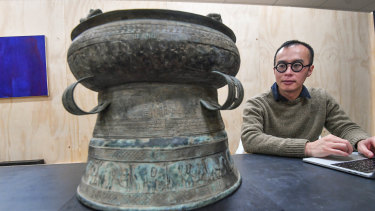 James Nguyen is building a digital recreation of a 2000-year-old Vietnamese rain drum.