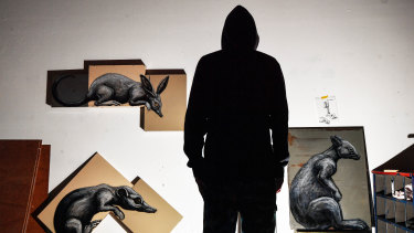 Famous Belgian street artist ROA travels the world creating large-sale murals of plants and animals.
