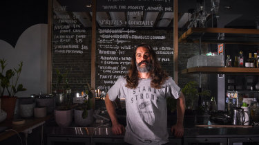 "Luke Ashton in his now closed bar This Must Be The Place in Darlinghurst said he decided to shut up shop ""and wait for things to change"" rather than continue to ride out the lockout laws."