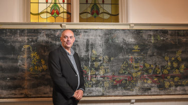Peter deWacht, principal of Kew Primary School, will task students with exploring the history of the unearthed murals.
