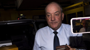 Daryl Maguire arrives at the ICAC on Friday.