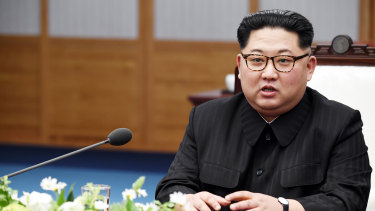 Kim Jong-un, North Korea's leader, attends the inter-Korean summit at the Peace House in the village of Panmunjom in the Demilitarised Zone (DMZ) in Paju, South Korea, on April 27.