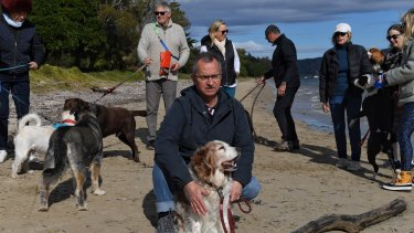 Mitch Geddes, a spokesman for Pittwater Unleashed, supports the off-leash dog area proposed for Station Beach.