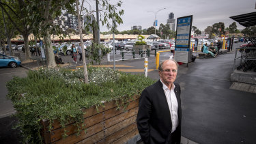 Professor Rob Adams in front of the open-air car park at Queen Victoria Market.