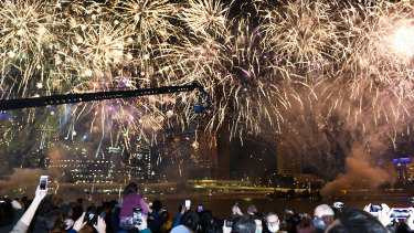 The fireworks display after Brisbane was announced as the host city of the 2032 Olympics.