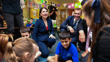 Premier Gladys Berejiklian and Education Minister Rob Stokes announced the funding during a visit to Seven Hills North Public School.