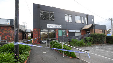 A man was found unconscious in a fire at Boronia Medical Centre.