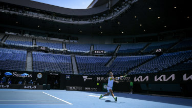 The Australian Open continued without fans on Saturday.