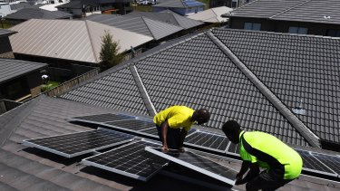 Lots more roofs to cover: Solar PV penetration rates still lag in Sydney and Melbourne.