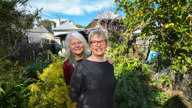 Dr Penny Whetton (left) with her wife, Greens senator Janet Rice. Dr Whetton died on September 11, aged 61