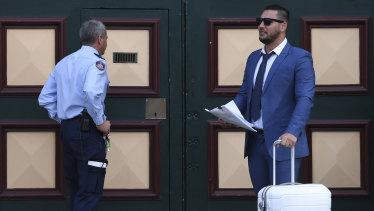 Salim Mehajer leaving Cooma jail on Tuesday.