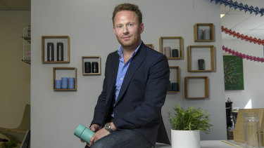 Frank Green founder and chief executive Benjamin Young.