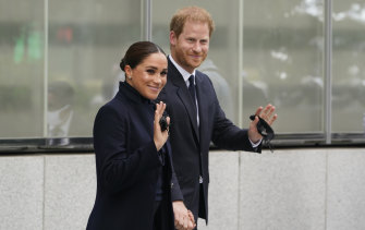 """Prince Harry The Duke of Sussex and Meghan Markle The Duchess of Sussex say they put their """"values in action""""."""
